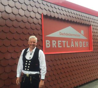 Dieter Bretländer, Dachdeckermeister